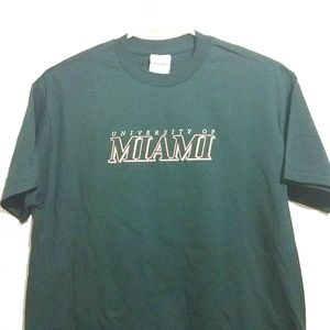 University Of Miami Men's Large T Shirt